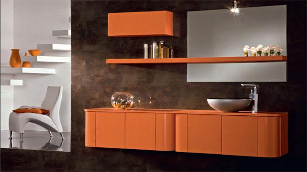 Arredo bagno colore arancio buy in vellezzo bellini on italiano