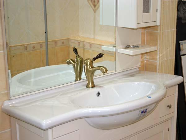 Mobiletto per stanza da bagno colore bianco laccato buy in palma