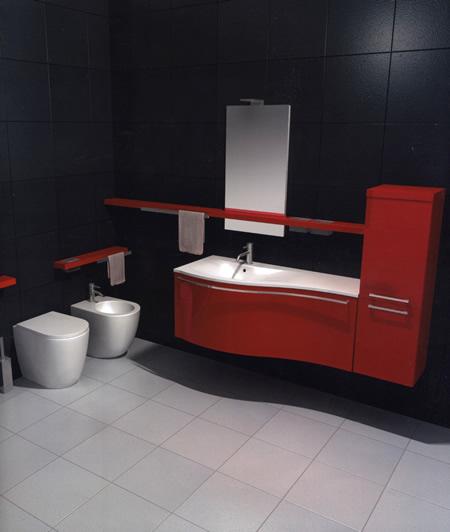 Mobili per bagno, colore rosso laccato buy in Sesto Fiorentino on ...
