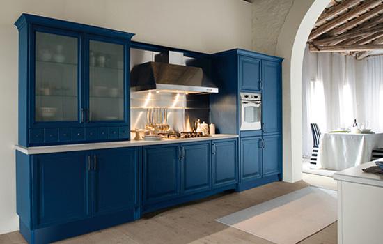 Cucine Moderne Colore Blu.Cucina Classica Colore Blu Scuro Buy In Casalserugo On Italiano