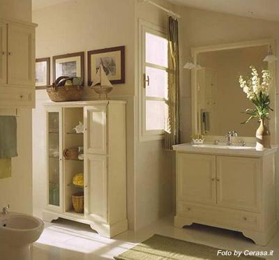 Set mobili da bagno, classico, colore bianco buy in Pescia on Italiano
