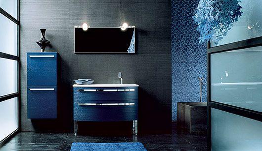 Arredo bagno blu scuro — Comprare Arredo bagno blu scuro, Prezzo ...