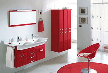 Arredo bagno rosso laccato buy in siziano on italiano