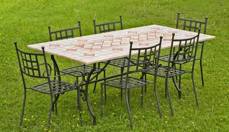 Set mobili da pranzo in ferro battuto buy in Lari on Italiano