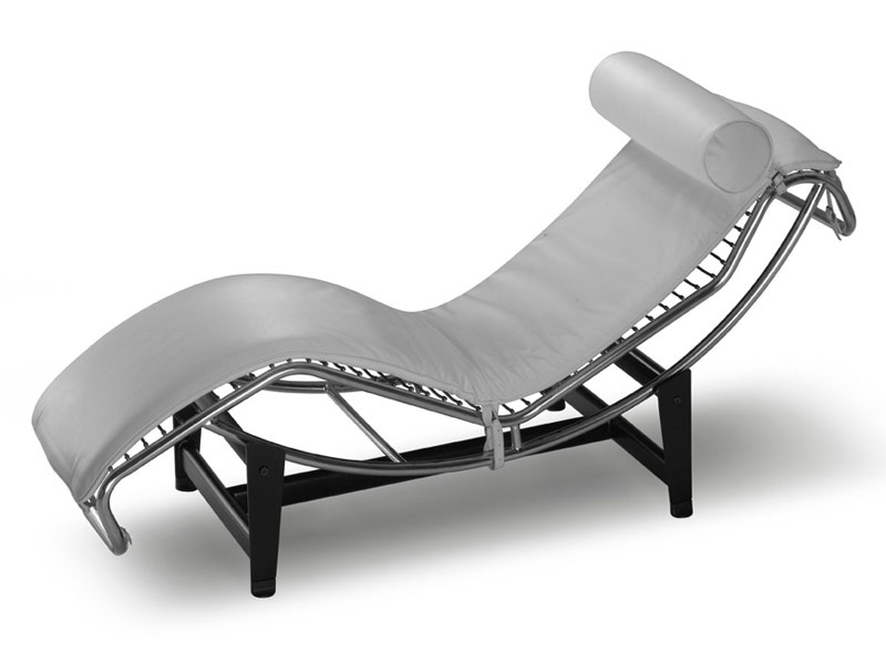 Lounge chair ecopelle lc simile le corbusier relax chaise