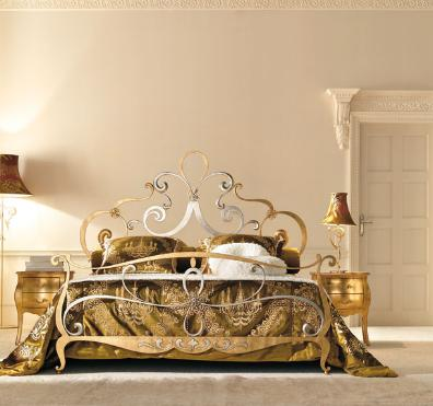 Letto in ferro battuto, collezione kristal — comprare letto in ...