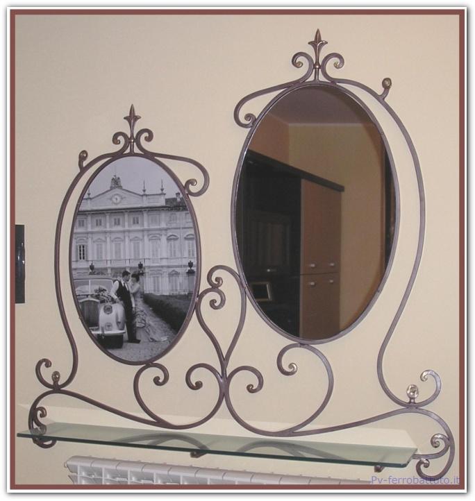 Acquistare Mensola con specchio e porta foto ovale