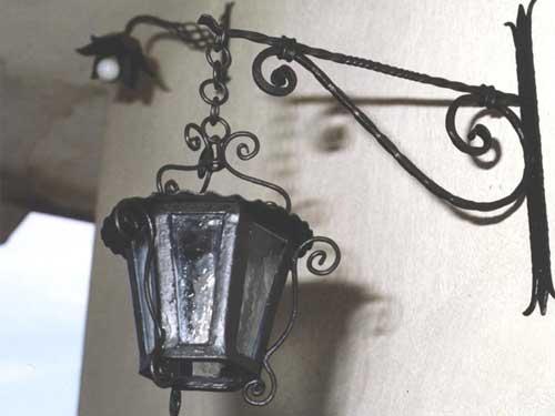 Lampada esterna in ferro battuto buy in montefalcone di val