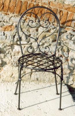 Acquistare Sedia in ferro battuto con piatti intrecciati per seduta
