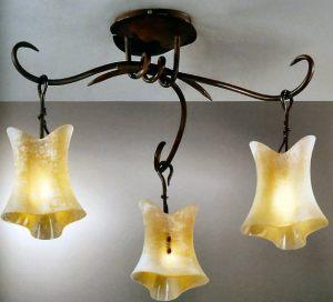Lampadario in ferro battuto e vetro Murano buy in Tavarnelle Val di ...