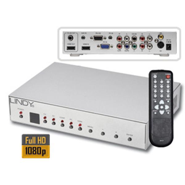Acquistare SWITCH/SCALER HDMI REMOTE LINDY