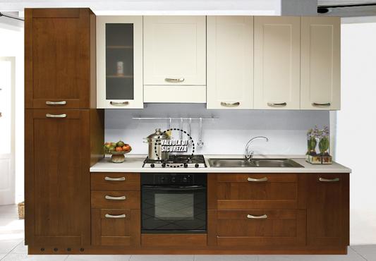 Cucina legno ciliegio+legno bianco laccato buy in Cervere on Italiano