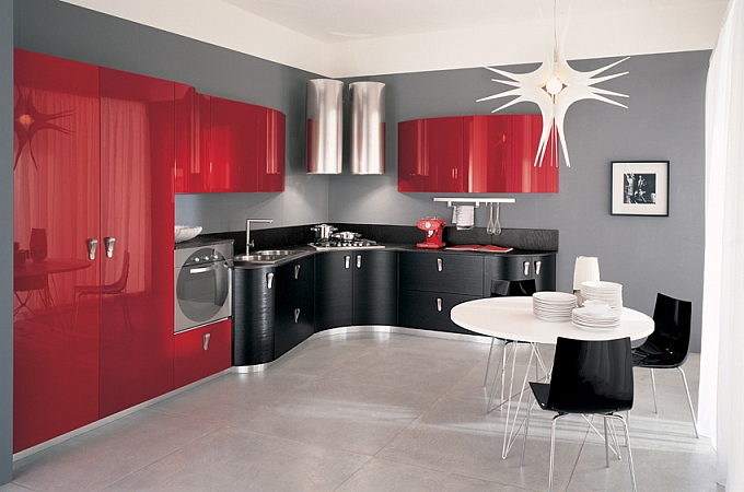 Best Cucina Rossa Laccata Photos - Ideas & Design 2017 ...