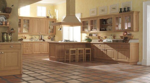 cucina in legno massello agnese tinta noce arredo 3 cucine. aicok ...