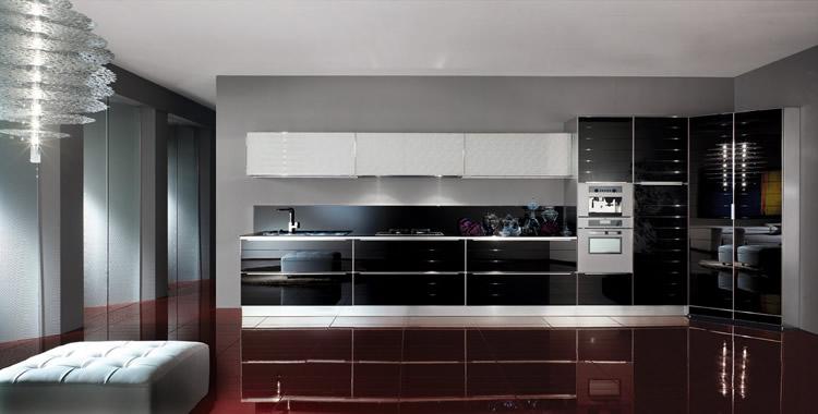 cucine moderne » foto cucine moderne bianche e nere - ispirazioni ... - Cucine Moderne Bianche E Nere