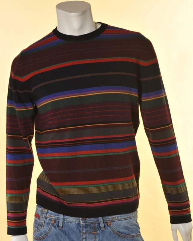 f44df4e3f1 Maglione lana Trussardi girocollo multicolor