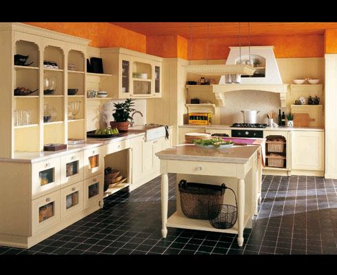 价格天然木材厨房家具