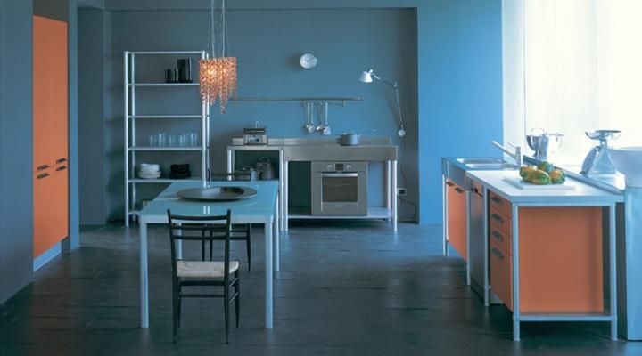 Cucina modulare inserti in alluminio Dedalo buy in Treviso on Italiano
