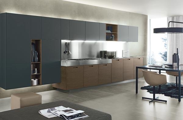 天然木材厨房家具