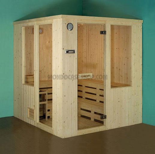 Acquistare Sauna Finlandese Mod. MIRO' Misure: cm 203 x 183 x 200