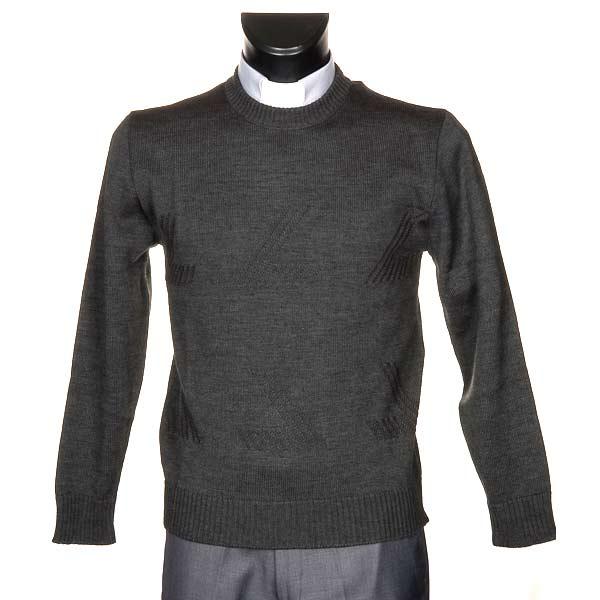 Girocollo lana con motivo