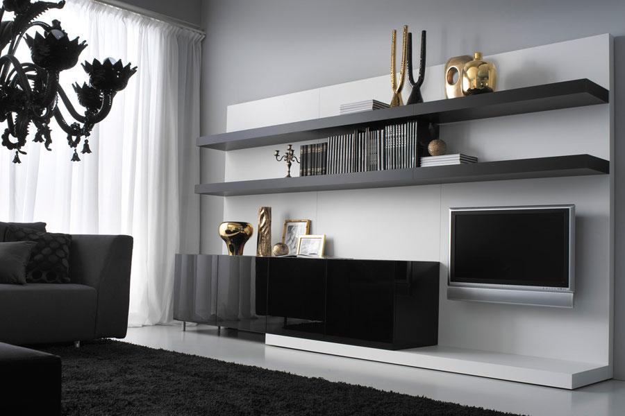 Parete attrezzata nera — comprare parete attrezzata nera, prezzo ...