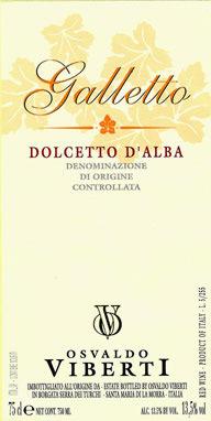 """Compro Vino Dolcetto d'Alba """"Galletto"""""""