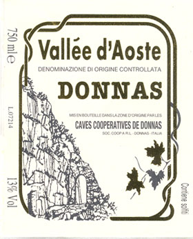 Compro Vino Valle d'Aosta D.O.C. - Donnas