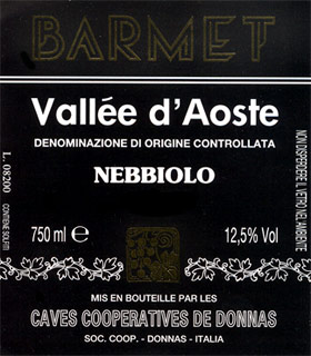 Compro Vino Valle d'Aosta D.O.C. - Nebbiolo Barmet
