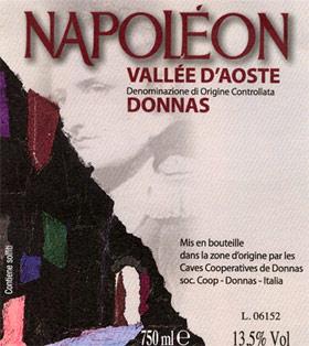 Compro Vino Valle d'Aosta D.O.C. - Donnas Napoleone