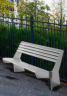 Urbany® City Project  Modello UR 12  Panchina lunga 1600mm con schienale