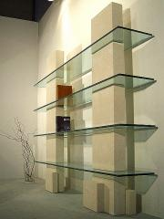 Bookcases with glass