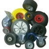 Wheels made of cast rubber