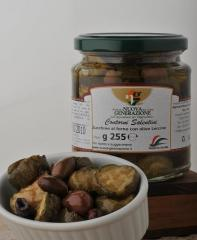 Zucchine al forno con olive leccine