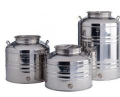 Cans, flasks made of ferrous metals and tin