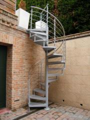 Spiral street stairs