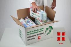 Wiping Rags The Brick In Cardboard Box