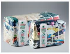 Wiping rags in 20-25-30kg presse bales