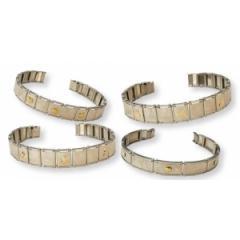 Bracciale BR 16 - Acciaio e oro con scatolo