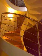 Stairs: stainless steel