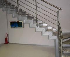 Handrails made of stainless steel