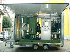 Plants for transformer oil treatment