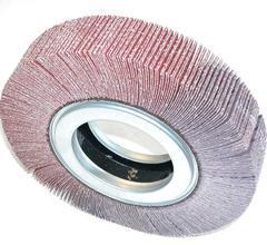 Flap wheels of abrasive paper
