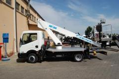 Telescopic truck mounted aerial platform T315