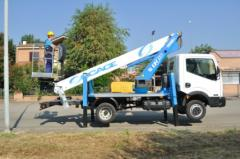 Telescopic truck mounted aerial platform T318