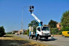 Telescopic truck mounted aerial platform T320