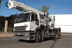 Telescopic truck mounted aerial platform with jib