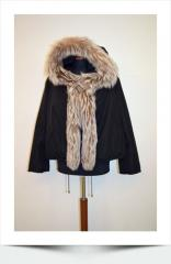 Fur down-padded coats