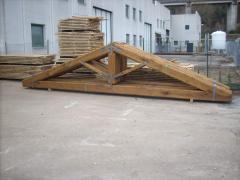 Capriate in legno di castagno