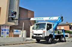Telescopic truck mounted platform